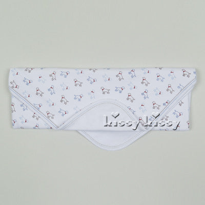 Kissy Kissy Boys Puppy Love Print Blanket