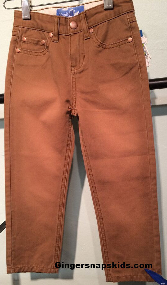 Kapital K Wheat Skinny Twill Pants (sz 12m-6)