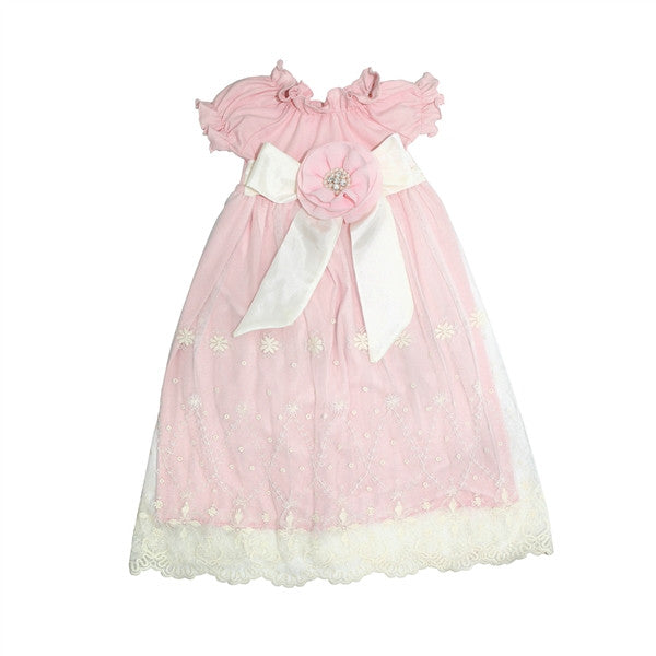 Haute Baby Lacey Rose Gown (sz 0-3m)