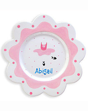 Girls Ballerina Personalized  Ballet Ceramic Plate