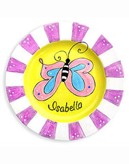 Girls Butterfly Personalized  Ceramic Plate