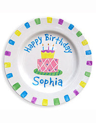 Girls Personalized Birthday  Ceramic Plate