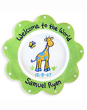 Newborn Baby Boy   Personalized Ceramic Plate