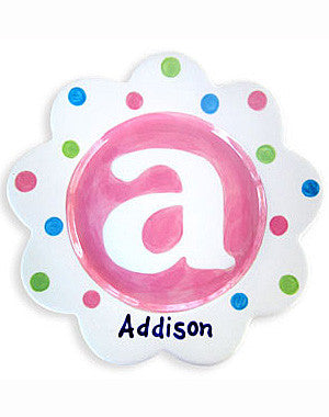 Girls Monogram Personalized  Ceramic Plate