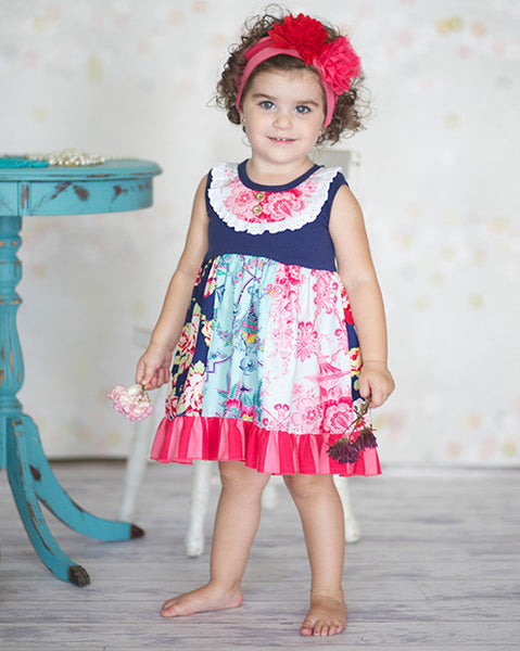 Giggle Moon Pure In Heart Pixie Panel Dress (sz 3m-4T)
