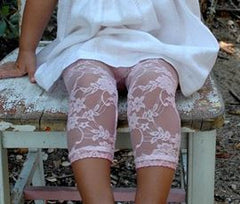 Girls Pink Lace Leggings sz 6/12mo-4yrs