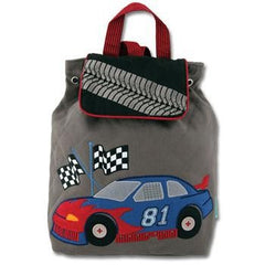 Stephen Joseph Signature Collection Quilted Race Car Backpack
