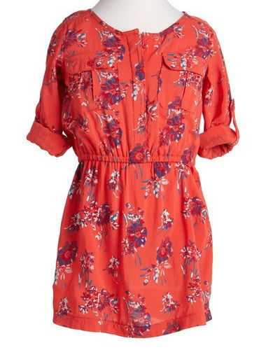 Splendid Red Allover Floral Print Dress (sz 7/8-14)
