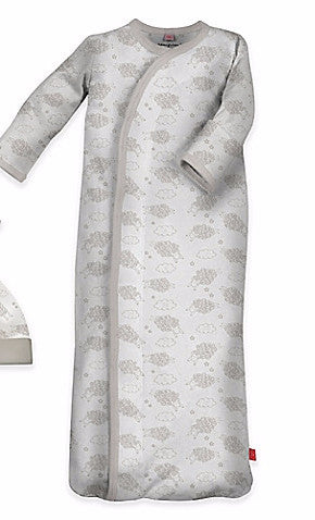 Magnificent Baby Magnetic Modal Unisex Counting Sheep Gown (sz NB-3mo)