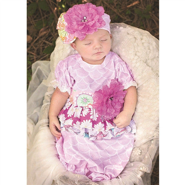 Haute Baby Simply Sweet Gown (sz 0-3m) SPRING 2016 PREORDER