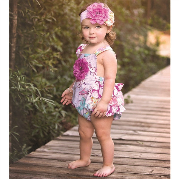 Haute Baby Simply Sweet Sunsuit (sz 0/3m-24m) SPRING 2016 PREORDER