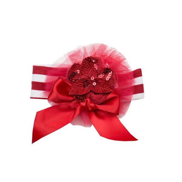 Haute Baby Girls Sleigh Ride Headband (sz INF-TOD) | FALL 2018 PREORDER