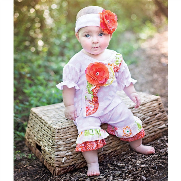 Haute Baby Spring Zing Criss Cross Set (sz 0/3m-12m) SPRING 2016 PREORDER