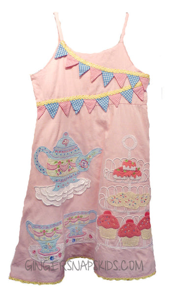 Pink Patchwork Tea Party Dress -great for Birthdays (sz 4t last 2)