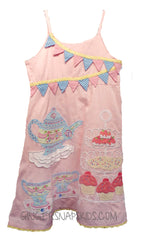 Pink Patchwork Tea Party Dress -great for Birthdays (sz 2T-6x)
