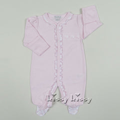 Kissy Kissy Girls Tiny Tusks Pink Stripe Footie (sz NB-3/6m)