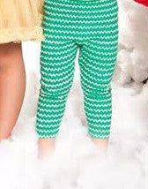 Haven Girl Merry Everything Green Chevron Leggings (sz 2-12)