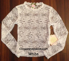 Lace L/S Layering Tee (sz 2-14)