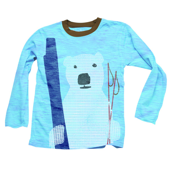 Wes and Willy Polar Bear Slub L/S Tee (sz 12m-4T)