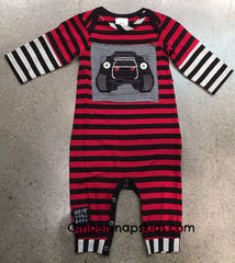 Zaza Couture Boys Monster Truck Romper (sz 3m-18m)