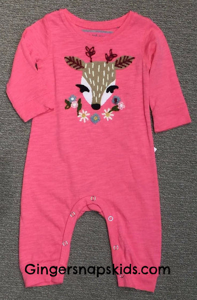 Red Egg & Ginger by Mimi & Maggie Deer Dreams Romper (sz 0/3m-6/9m) | FALL 2017 PREORDER