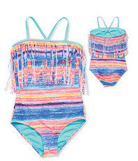 Gossip Girl Neon Lights 1 Piece Swimsuit (sz 7-16)