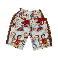 Haute Baby Chuckwagon Gang L/S Wanted Pants Set (sz. 0-3mo - 4t)