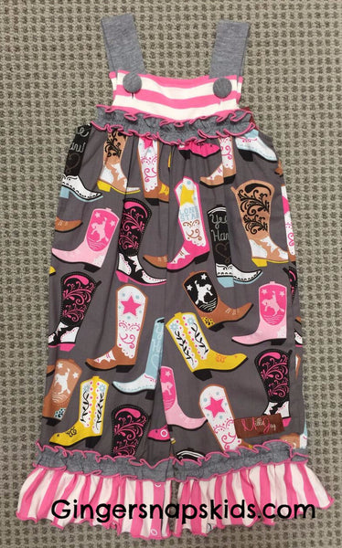 Millie Jay Boots Galore Jay Romper (sz 3m-24m) | FALL 2017 PREORDER