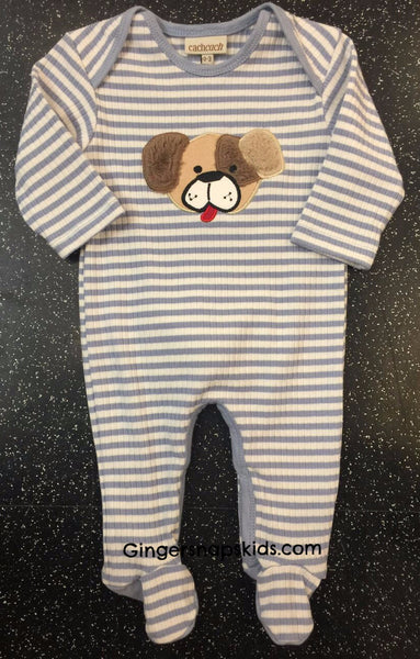 Cach Cach Puppy Dog Tails Footie (sz 0/3m-9m) | FALL 2017 PREORDER