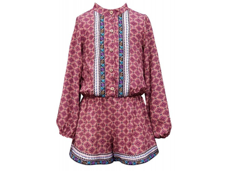 Truly Me Embroidered Fall Romper (sz 4-16)