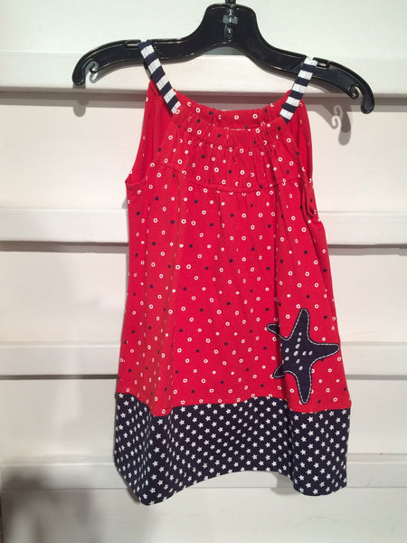Ditsy Star Pillow Case Dress (sz 12m-6X)