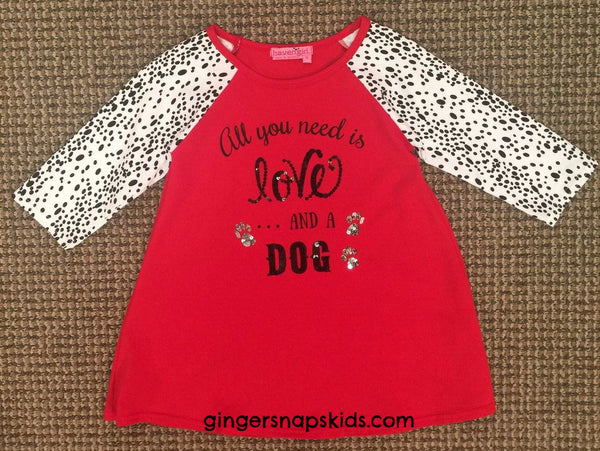 Haven Girl Live Love & Wag Raglan Tunic (sz 4-10) | FALL 2017 PREORDER
