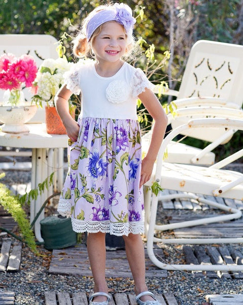 Giggle Moon True Vine Greta Dress (sz 24m, 3t last ones)