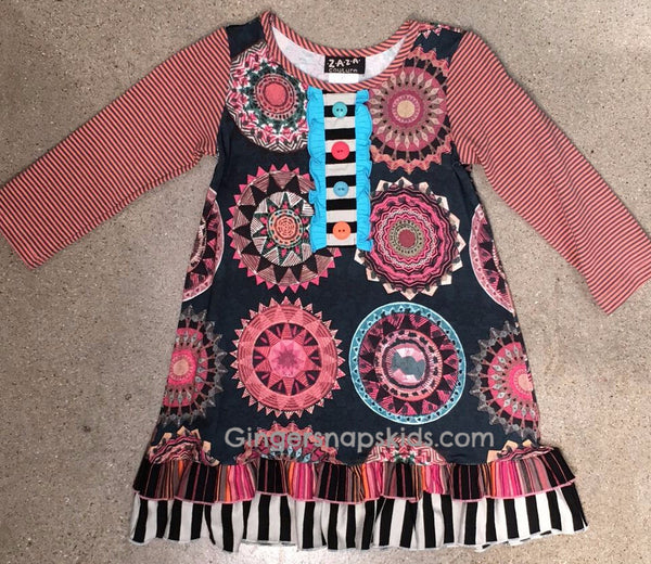 Zaza Couture Angel Cake Flair Dress (sz 2T-6X) | FALL 2017 PREORDER