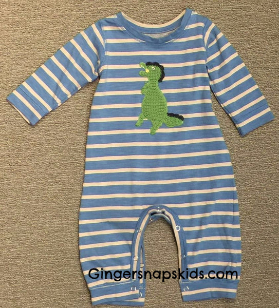 Red Egg & Ginger by Mimi & Maggie T-Rex Romper (sz 0/3m-6/9m) | FALL 2017 PREORDER