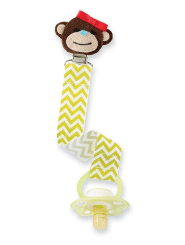 Mud Pie Girls Monkey Pacifier Clip