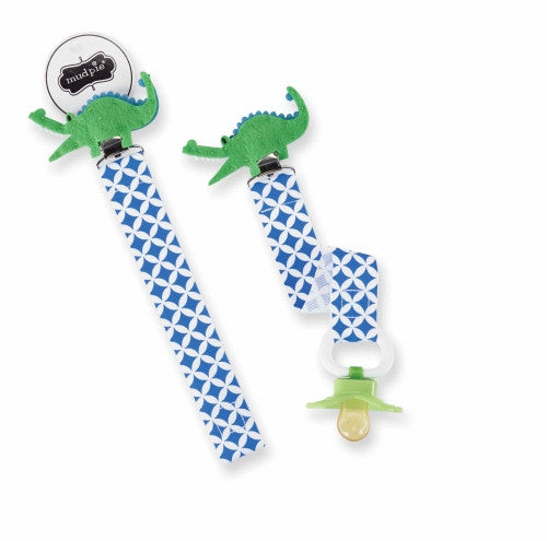 Mud Pie Alligator Pacifier Clip