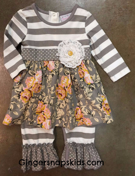 Serendipity Stone & Vine Floral Longall (sz 3m-12m) | FALL 2017 PREORDER