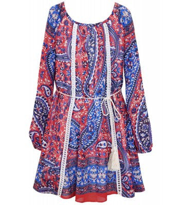 Truly Me Paisley A-Line Dress (sz 5, 14 last ones)