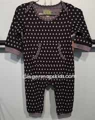 Kapital K Star Collection Black Star Coverall (sz 0/3m-6/9m)