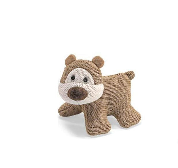Gund Brown Knit Bear Sound Toy