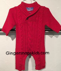 Kapital K Red Sweater Coverall (sz 0/3m-6/9m)