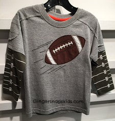 Football Applique Twofer Tee (sz 12m-7)