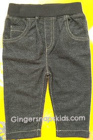 Kapital K Black Knit Denim Pull-On Pants (sz 0/3m-6/9m)