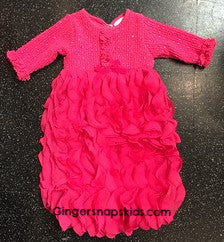 Cach Cach Holiday Ribbons Gown (sz 0/3m)