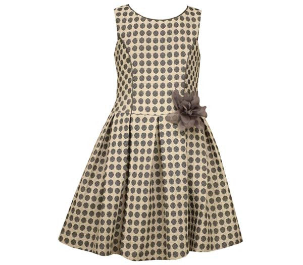Polka Dot Jacquard Drop Waist Dress (sz 4-6X)