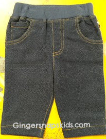 Kapital K Blue Knit Denim Pull-On Pants (sz 0/3m-6/9m)