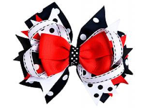 Red/White/Black Hair Bow