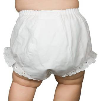 White Double Seat Diaper Cover (sz NB-9/12m)