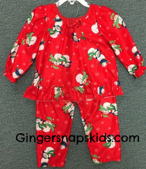Laura Dare Winter Wonderland L/S Pajamas (sz 12m-24m)